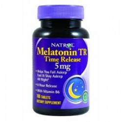 Melatonina Natrol 5mgr Time Release 100 cp pack x 2