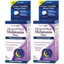 Melatonina  pack x2  Natrol 10mgr 60 cp pack x 2